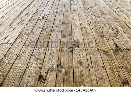 Interior Design - Wooden Floor - stock photo
