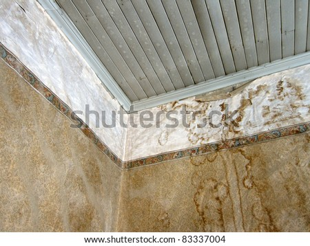 Interior detail of an abandon house, Bodie Ghost Town, California - stock photo