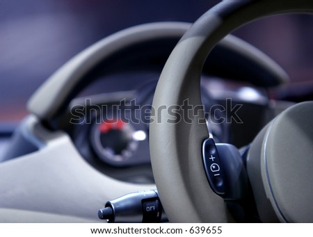 Interior detail of concept car, Frankfurt Motor Show - stock photo