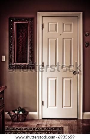 interior door - stock photo