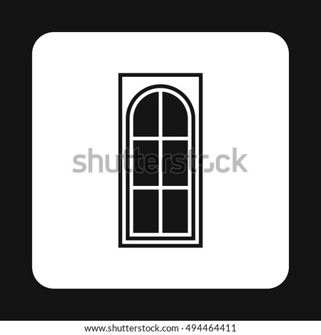 Interior door icon in simple style isolated on white background. House symbol  illustration