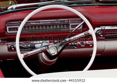 Interior from a old car - stock photo