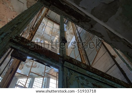 Interior from the famous abandoned Hospital Complex in Beelitz, Berlin, Germany - stock photo