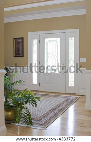 interior front foyer view - stock photo