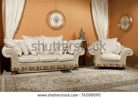 interior furniture and decor. see more on my page - stock photo