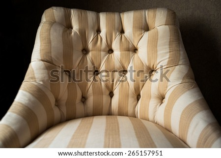 interior furniture decor, convenient and comfortable chair in a luxurious house - stock photo