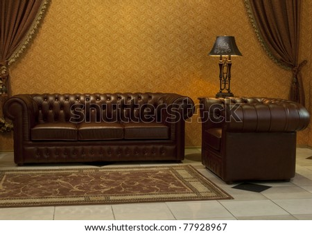 interior furniture sofa and lamp. see more on my page - stock photo