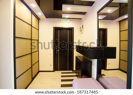 Interior hallway. Interior in the style of modern