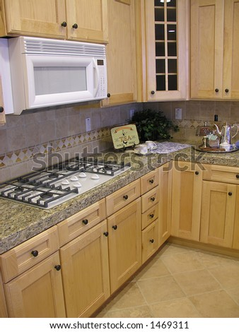 Interior home kitchen - stock photo