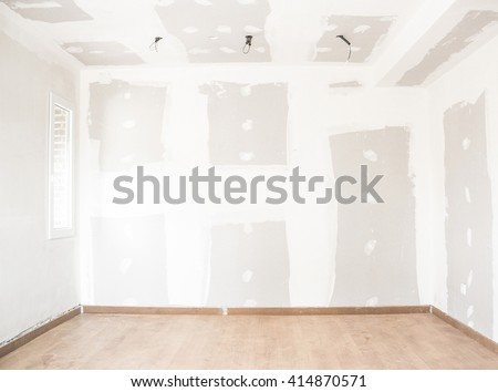 interior house alterations works - stock photo