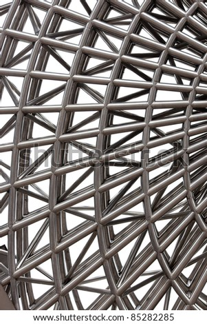Interior image of Geometric iron sculpture - stock photo