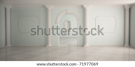 Interior in classical style - stock photo
