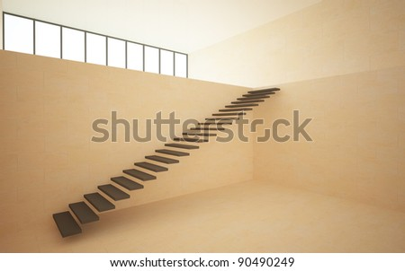 interior in the style of minimalism 3 - stock photo