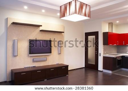 Interior. Kitchen - stock photo