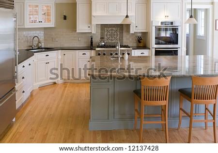 interior kitchen view - stock photo