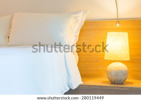 Interior lamp decoration in bedroom