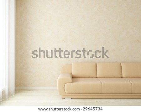 Interior light - more variations of this interior in my portfolio - stock photo