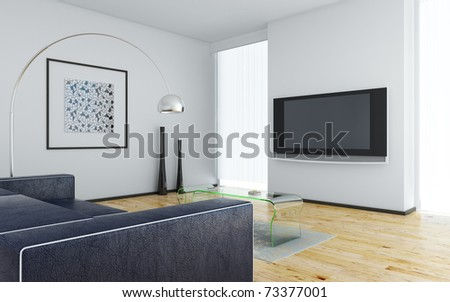 Interior living room - stock photo