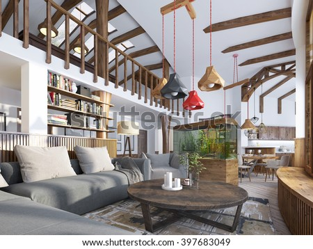 Big House Inside Living Room living room aquarium stock images, royalty-free images & vectors