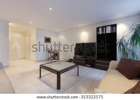 Interior, living room of a modern apartment - stock photo