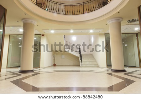 interior - lobby of a upper class shopping mall