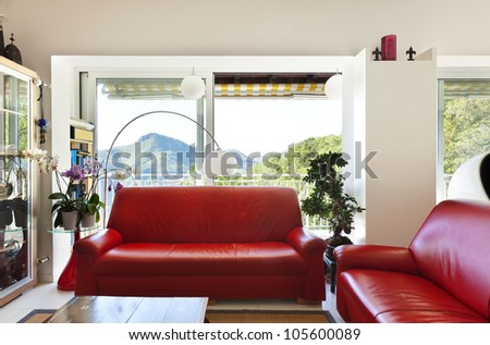 interior loft, furnished livingroom