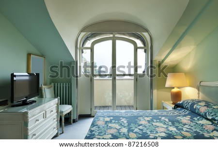 interior luxury apartment, comfortable room - stock photo
