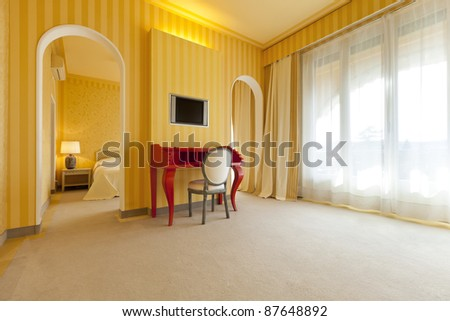 interior luxury apartment, comfortable room - stock photo