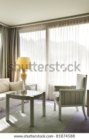 interior luxury apartment, detail double room