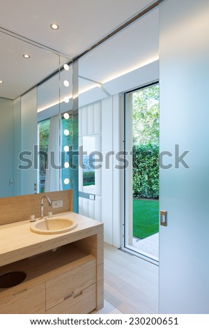 Interior modern bathroom - stock photo