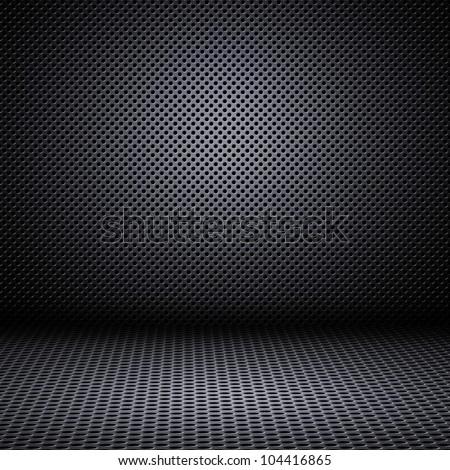 Interior modern design of metal mesh texture background - stock photo