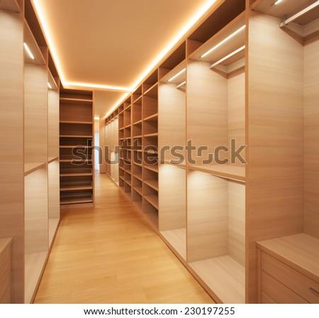 Interior modern empty room - stock photo