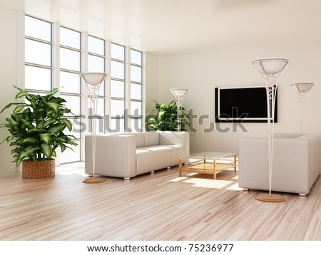 Interior modern rooms - stock photo