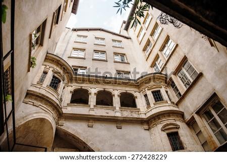 Interior neighborhoods Old Lyon, France - stock photo