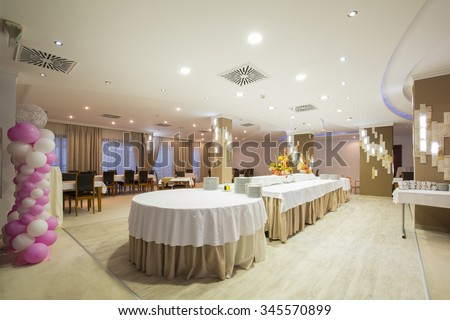 Interior Of A Banquet Hall
