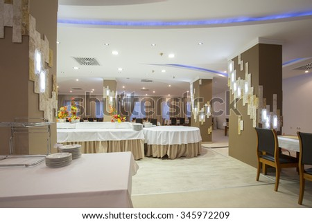 Interior of a banquet hall
