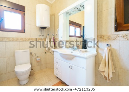 Interior of a bathroom in a villa