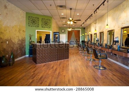 Interior of a Beauty Salon Spa