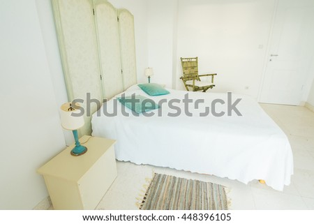 Interior of a bedroom in a villa