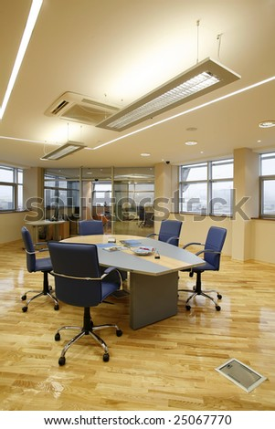 interior of a boardroom - stock photo
