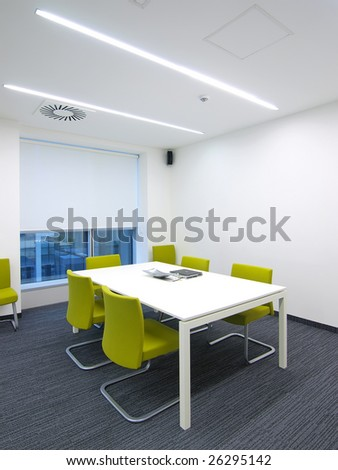 interior of a bright office - stock photo