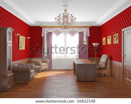 Interior of a cabinet - stock photo