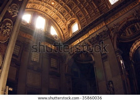 Interior of a cathedral of St. Peter - stock photo
