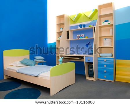 Interior of a children's room - stock photo