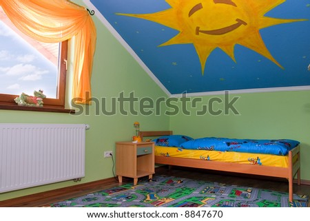 Interior of a children's room - stock photo