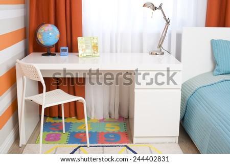 Interior of a children's room, modern furniture - stock photo
