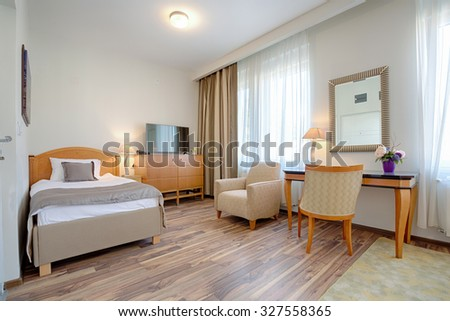 Interior of a classic styled apartment  - bedroom  - stock photo