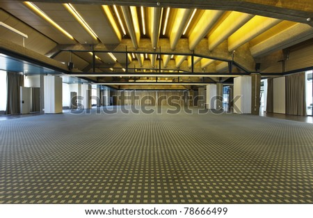 interior of a conference hall - stock photo