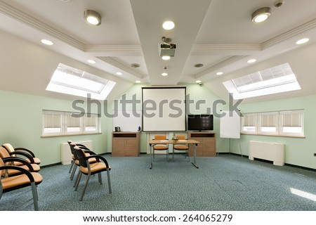Interior of a conference room