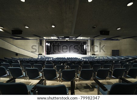 interior of a Congress Palace, audience - stock photo